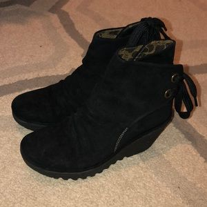 Fly London Yama Suede ankle bootie